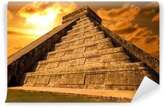 Vinylová Fototapeta El Castillo Chichen Itza. Mayské pyramidy v Yucatan, Mexiko