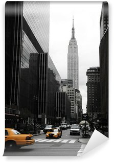 Vinylová Fototapeta Emipre State Building a žlutá, Manhattan, New York