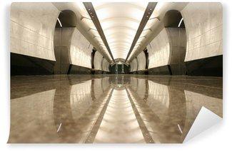 Vinylová Fototapeta Empty stanice metra patro