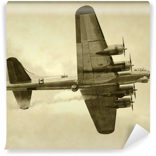 Fototapeta Winylowa Era ii wojny światowej amerykański bombowiec