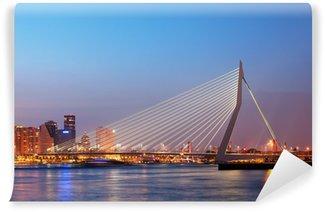 Vinylová Fototapeta Erasmus Bridge v Rotterdamu v Twilight