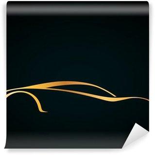 Vinylová Fototapeta Estetik bir araba spor logosu