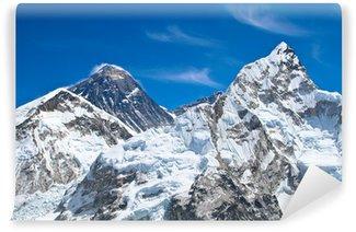 Vinylová Fototapeta Everest a Lhotse vrcholky hor pohled z Kala Pattar, Nepál