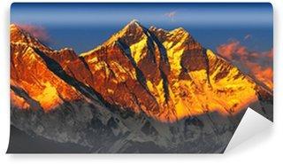 Vinylová Fototapeta Everest při západu slunce. Pohled z Namche Bazar, Nepál