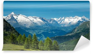 Vinylová Fototapeta Evropské Alpy. Panorama s vysokými horami