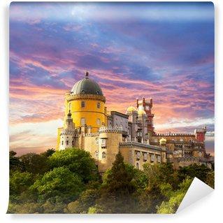Vinylová Fototapeta Fairy palác proti obloze slunce / panorama paláce v Sintra,