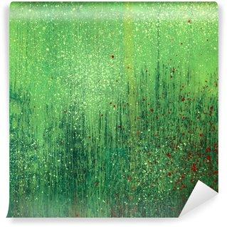 Fototapeta Winylowa Farba akrylowa zielony papier tekstury tła