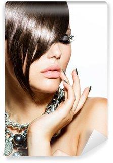 Vinylová Fototapeta Fashion Glamour Beauty Girl With stylový účes a make-up