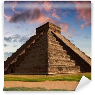 Vinylová Fototapeta Feather Serpent - Equinox v Kukulkan pyramida Chichén Itzá,