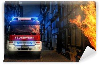 Vinylová Fototapeta Feuer in der Stadt