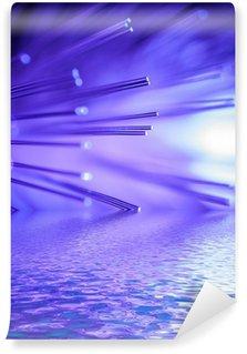 Vinylová Fototapeta Fialové s optickými vlákny odráží ve vodní hladiny.