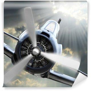 Vinylová Fototapeta Fighter. Retro technologie téma.