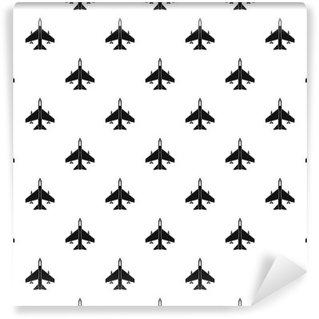 Fototapeta Winylowa Fighter wzór jet. Prosta ilustracja jet fighter Wektor wzorzec dla sieci