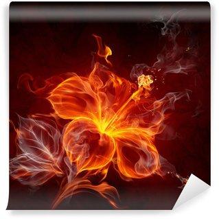 Vinylová Fototapeta Fire Flower