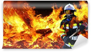 Vinylová Fototapeta Firefighter Firefighter Hero