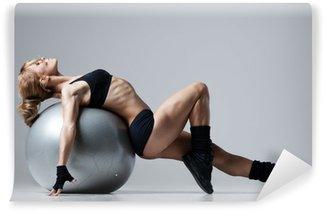 Vinylová Fototapeta Fitness s tělocvičnou míč