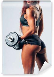 Vinylová Fototapeta Fitness žena