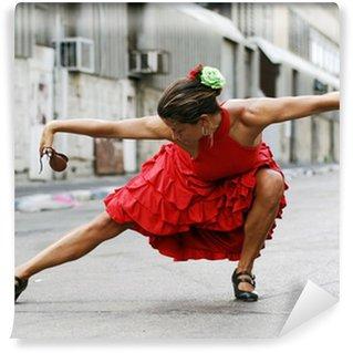 Vinylová Fototapeta Flamenco Dancer s kastaněty