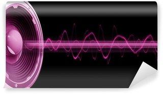 Vinylová Fototapeta Flyer audio strašidlo růže fond noir