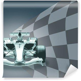 Vinylová Fototapeta Formule 1 auto a vlajky