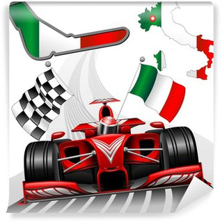 Vinylová Fototapeta Formule 1 Red Race Car GP Monza Itálie