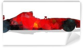 Vinylová Fototapeta Formule závodní auto. Red abstraktní geometrické vektorové ilustrace.