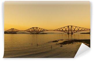 Vinylová Fototapeta Forth železniční most při západu slunce poblíž Edinburghu, Skotsko.