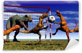 Vinylová Fototapeta Fotbal dinosaurus