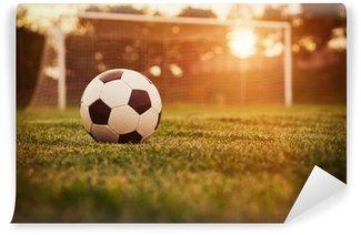 Vinylová Fototapeta Fotbal západ slunce