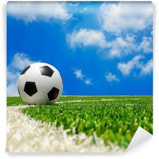 Vinylová Fototapeta Fotbalový míč na pole