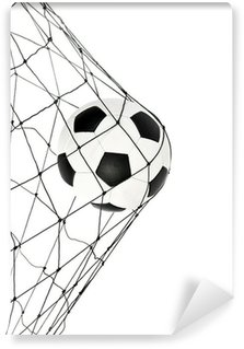Vinylová Fototapeta Fotbalový míč v čisté bráně
