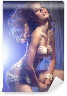 Vinylová Fototapeta Foto sexy blond krásy v prádle