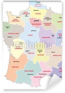 Vinylová Fototapeta Francie - Regiony