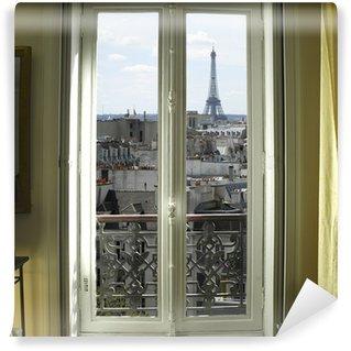 Fototapeta Winylowa Francja - Paryż - Okno z wieży Eiffla i dachy Zobacz