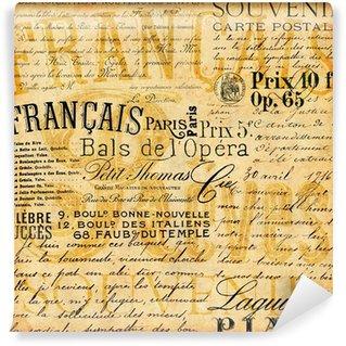 Vinylová Fototapeta Francouzský Vintage pozadí