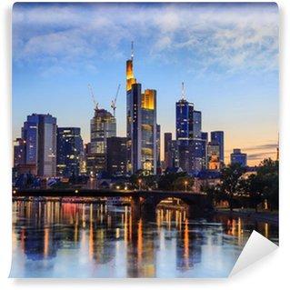 Vinylová Fototapeta Frankfurt Skyline, Německo