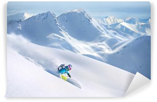 Vinylová Fototapeta Freeride lyžování