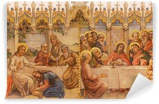 Vinylová Fototapeta Fresky - Poslední večeře a Ježíš a hříšná žena