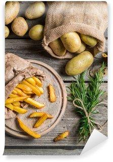 Fototapeta Winylowa Frytki z ziemniaków