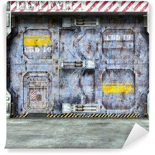 Vinylová Fototapeta Futuristický kosmická loď dveře