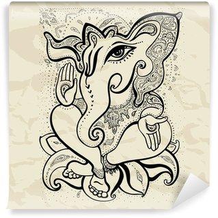 Vinylová Fototapeta Ganesha Ručně malovaná ilustrace.