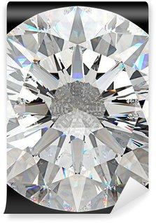 Vinylová Fototapeta Gemstone: pohled shora na kolo diamant ojedinělých