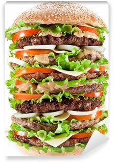 Vinylová Fototapeta Gigantic hamburger