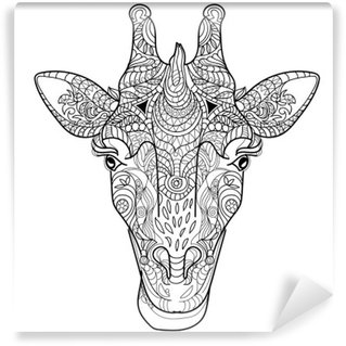 Vinylová Fototapeta Giraffe head doodle