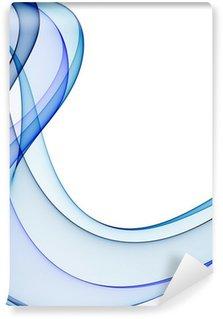 Fototapeta Winylowa Gładkie fale z odcieniami niebieskiego na białym tle