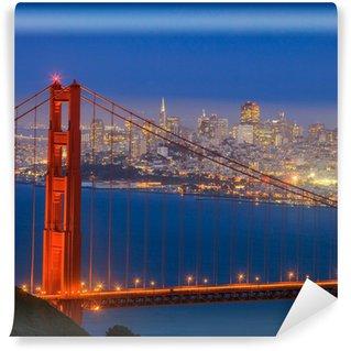 Vinylová Fototapeta Golden Gate Bridge a do centra San Francisco