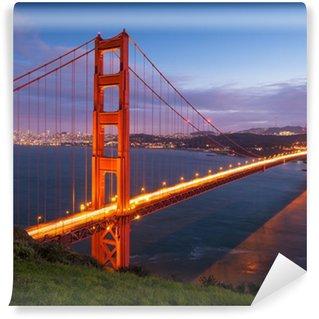 Vinylová Fototapeta Golden Gate Bridge při západu slunce