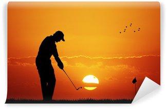 Vinylová Fototapeta Golf při západu slunce
