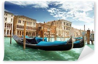 Vinylová Fototapeta Gondoly v Benátkách, Itálie
