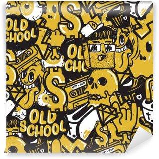 Vinylová Fototapeta Graffiti - bezešvé vzor